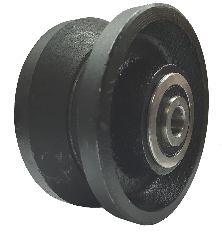Mapp Caster Sliding Barn Door Cast Iron Wheel Kit 3 x 1.5 with 3//8 Smooth /& Quiet Ball Bearings