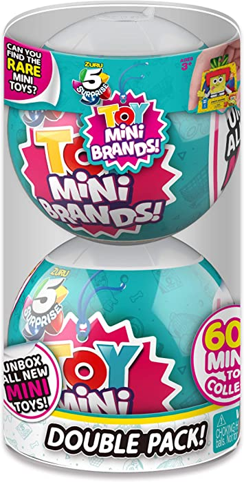 5 Surprise Toys Mystery Capsule Real Miniature Brands Collectible Toy (2 Pack) by ZURU