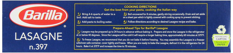 Amazon Com Barilla Pasta Wavy Lasagne 16 Oz Grocery Gourmet Food