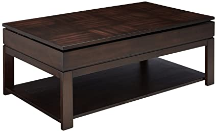 Progressive Furniture Miramar Sliding Top Cocktail Table, Birch/Cherry  Veneer