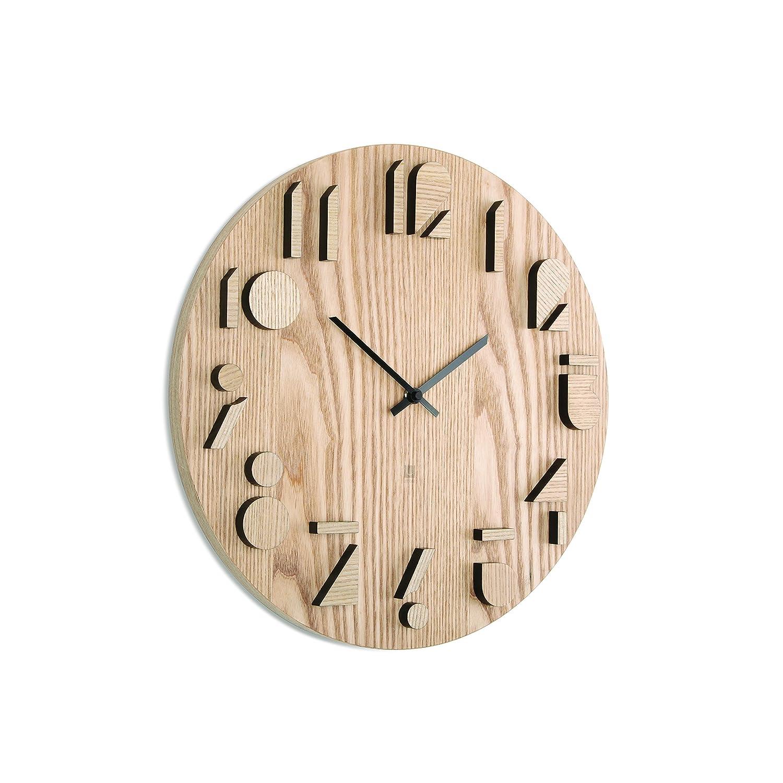 Amazon Umbra Shadow Wooden Wall Clock Natural Home Kitchen