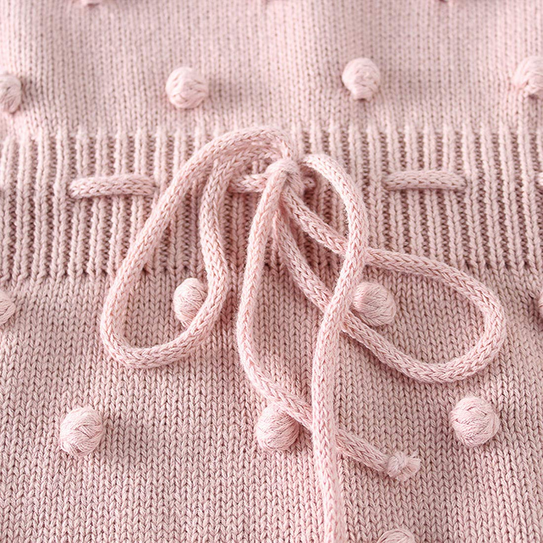 Simplee kids Baby Girl Knit Pompoms Romper Summer Sleeveless Baby Girl Knit Clothes