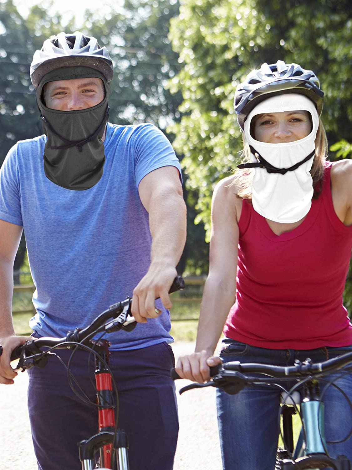 6 Pieces Balaclava Mask Ice Silk UV Protection Full-face Mask for Women and Men Outdoor Sports