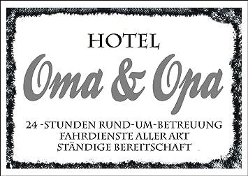 Möbel & Wohnen Türschild « Pension OMA & OPA » Schild 15 x 5 cm Schild