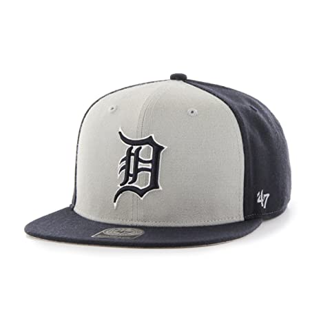 huge selection of 56bc4 f660f  47 MLB Detroit Tigers Sure Shot Accent Captain Adjustable Snapback Hat, One  Size,