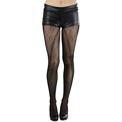ToBeInStyle Women's Lace Mesh Pantyhose - Black at Women's Clothing store