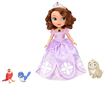 Disney Sofia the First Toy  Talking Sofia Deluxe Doll and Animal