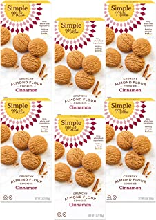 product image for Simple Mills Almond Flour Cinnamon Cookies, Gluten Free and Delicious Crunchy Cookies, Organic Coconut Oil, Good for Snacks, Made with whole foods, 6 Count (Packaging May Vary)