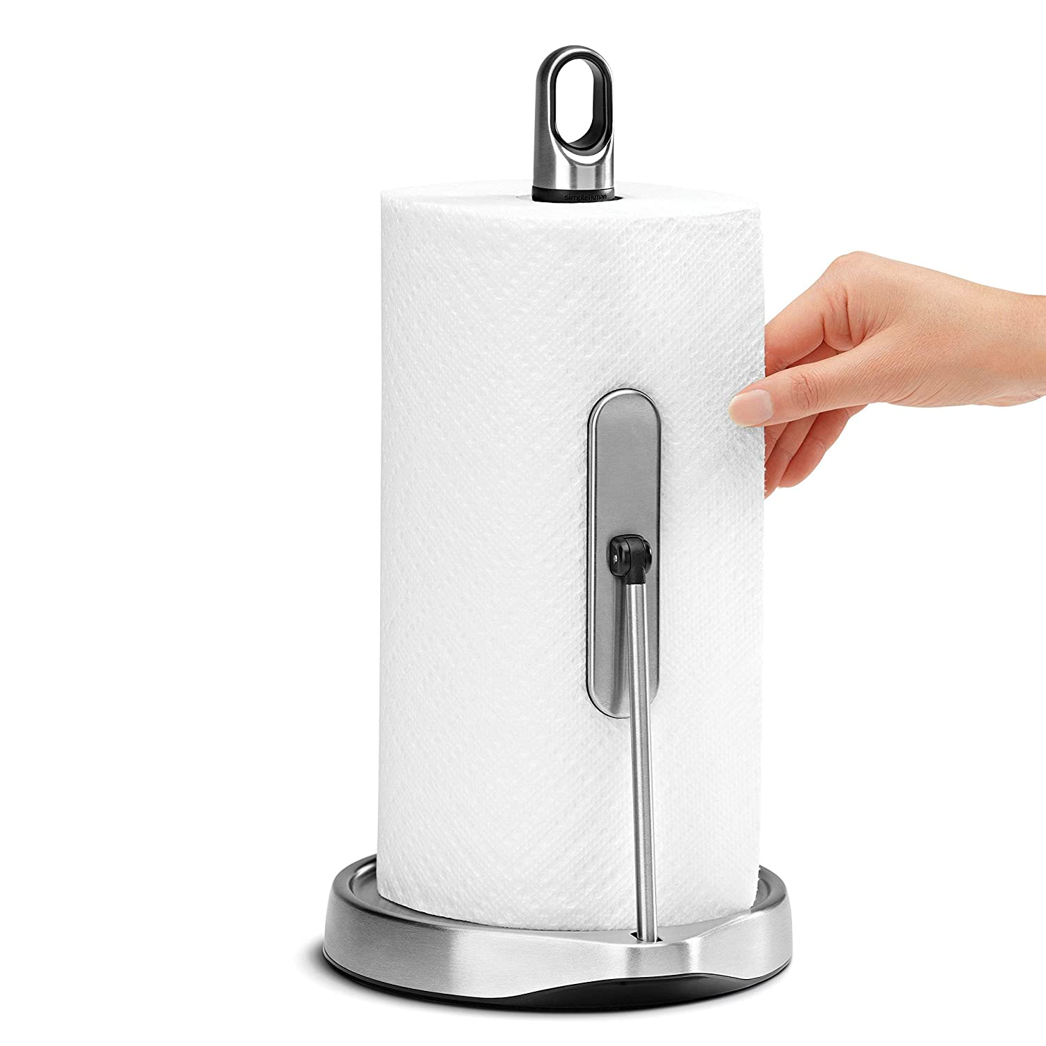 simplehuman Tension Arm Paper Towel Holder, Stainless Steel
