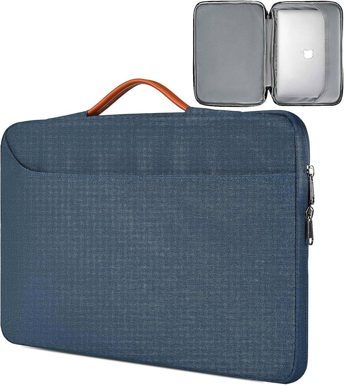11.6-13 Inch Laptop Sleeve Bag, Men Women TSA Business Briefcase with Organizer for Lenovo Chromebook 11.6, Acer Chromebook Spin 311, Dell XPS 13 7390,Surface ASUS HP Chromebook Handbag Case,Navy Blue