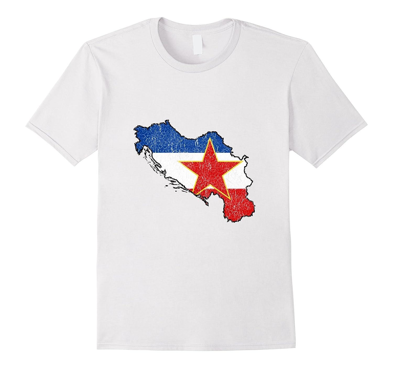 T Colamaga Distressed Flag Cl – Shirt Vintage Jugoslavija Yugoslavia FKTl1Jc