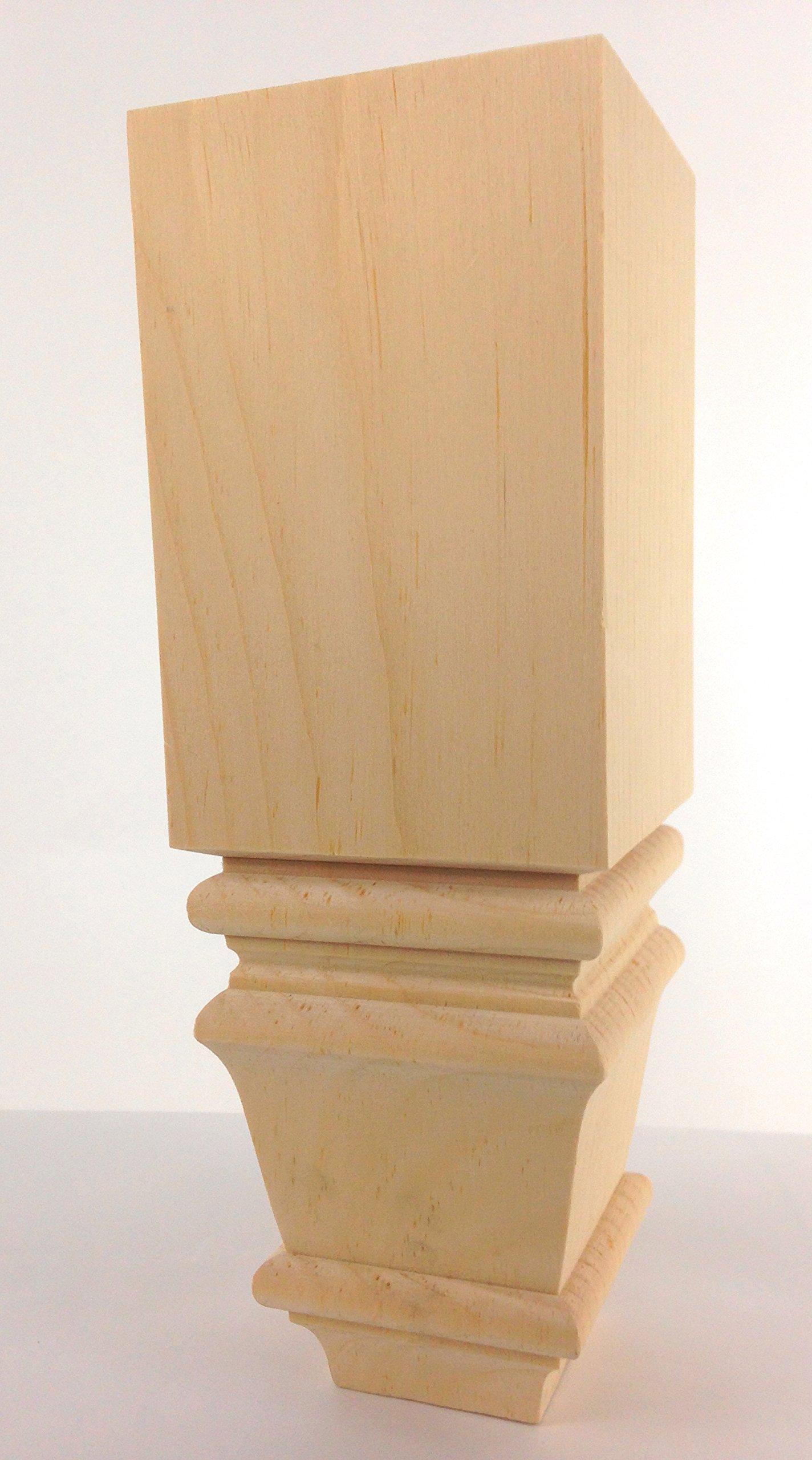 Square Baymont Sofa Leg - 10'' Tall x 3 1/2'' Wide (Pine)