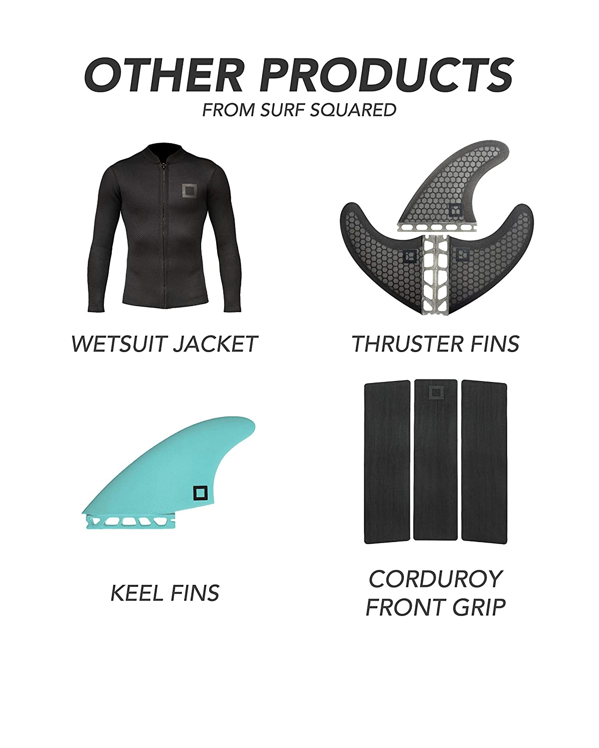 Surf Squared Futures Twin Fin Set