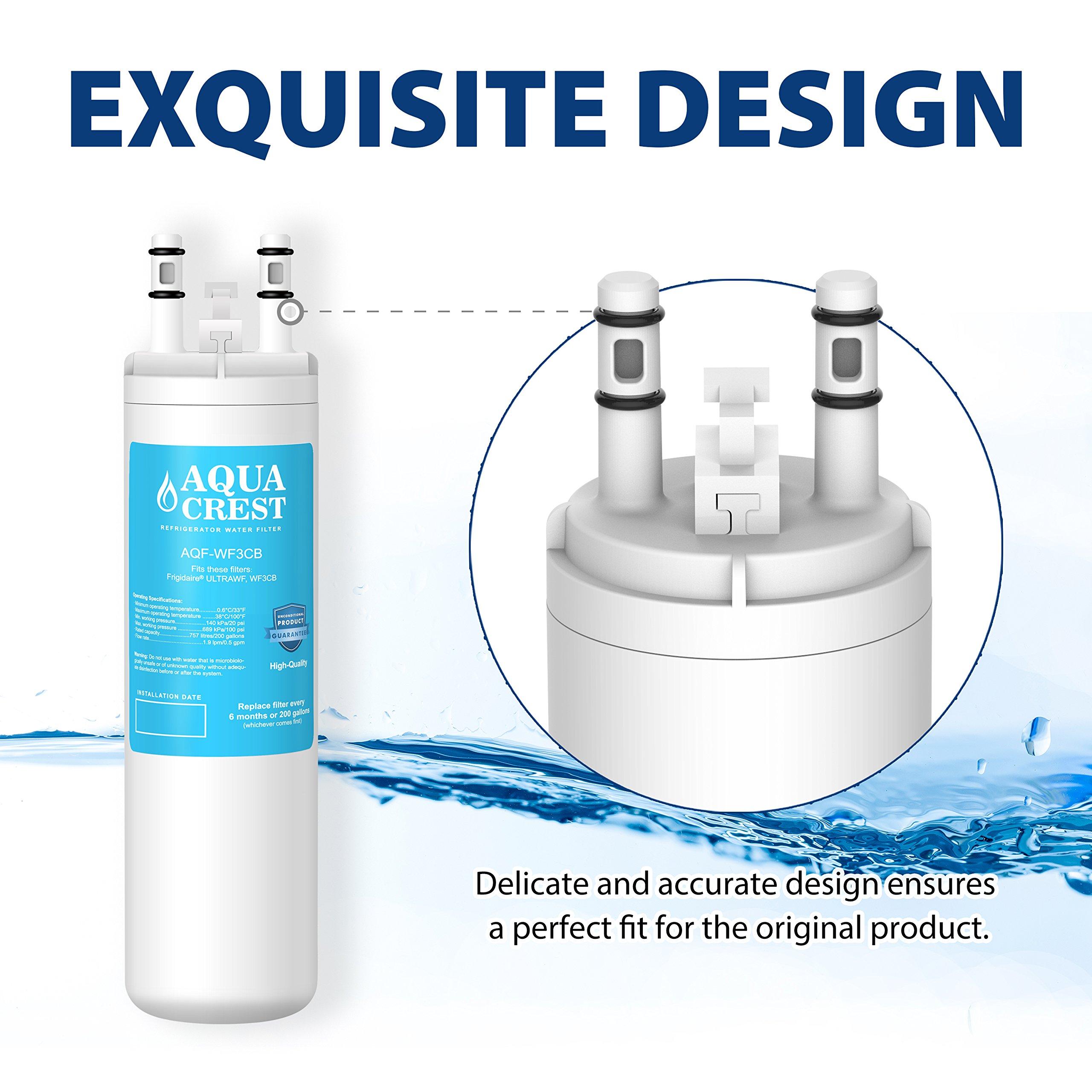 AQUA CREST WF3CB Replacement for Frigidaire Puresource WF3CB Refrigerator  Water Filter