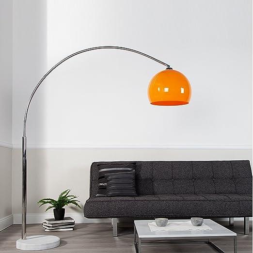 acrilico arancio LAMPADA AD ARCO GRANDE BIG BOW regolabile in altezza 175-205 cm |