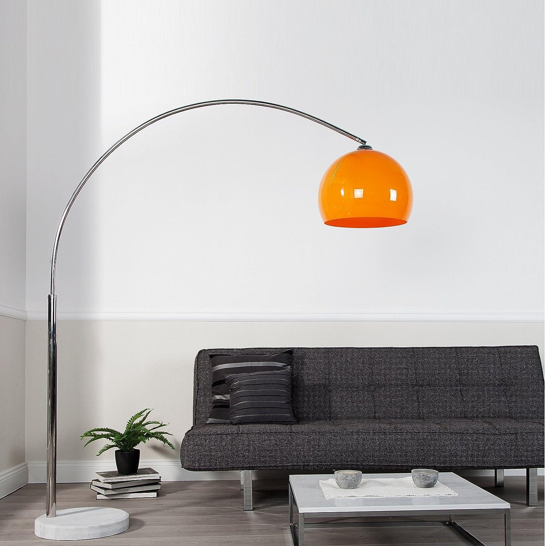 BIG BOW RETRO RETRO RETRO DESIGN LAMPE ORANGE höhenverstellbar von XTRADEFACTORY Lounge Stehlampe Bogenlampe 35597b