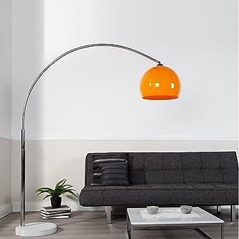 Big Bow Retro Design Lampe Orange Hohenverstellbar Von Xtradefactory