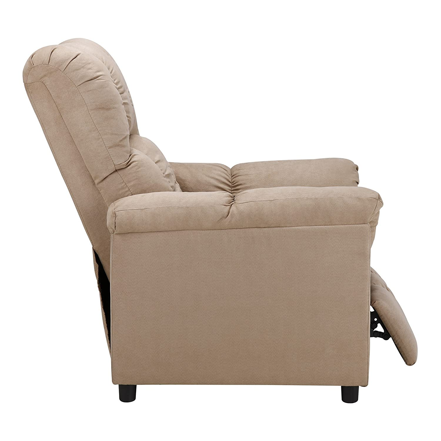 amazon com dorel living slim recliner beige kitchen dining