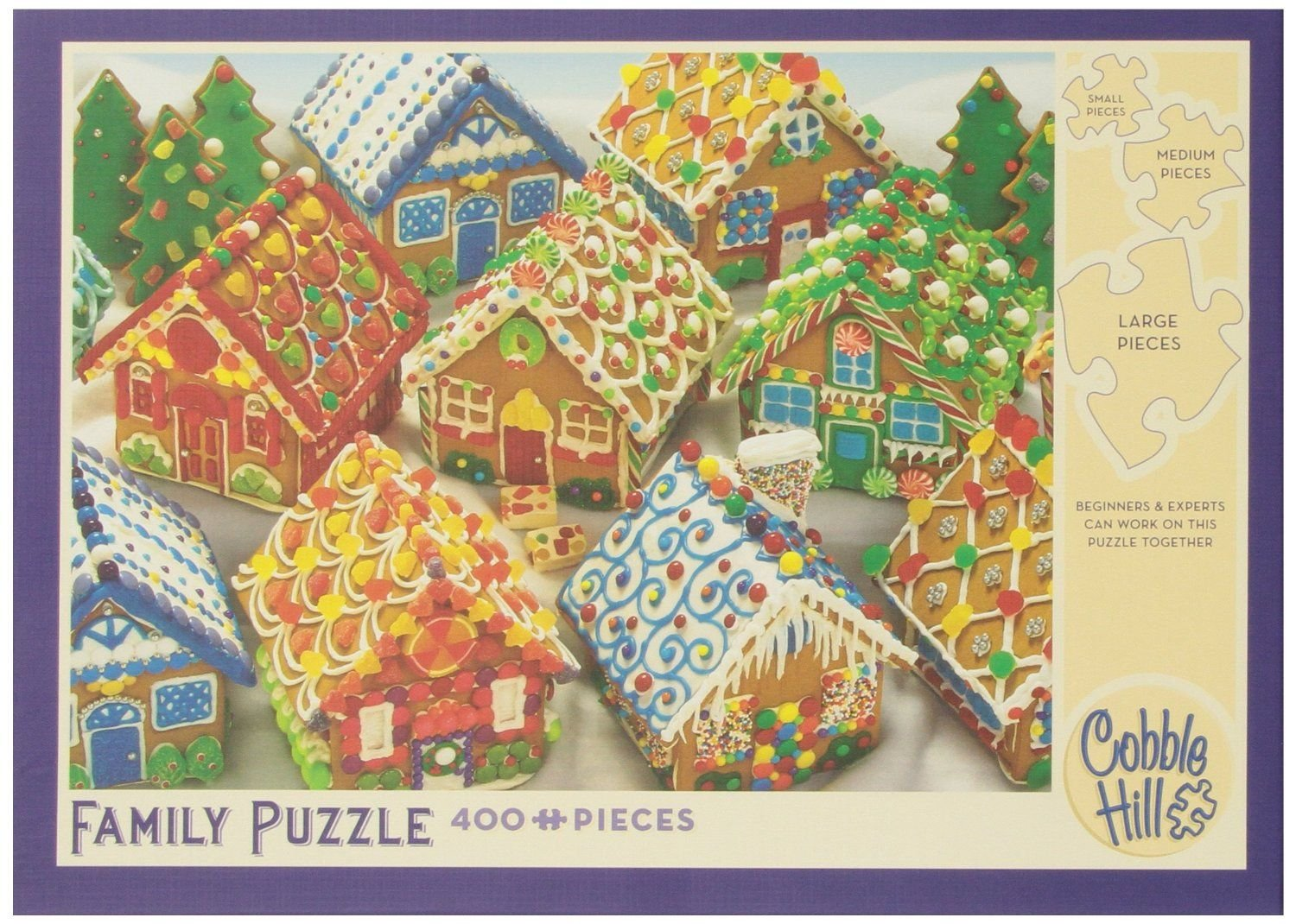 Cobble Hill Gingerbread Houses 400 Piece Family Puzzle