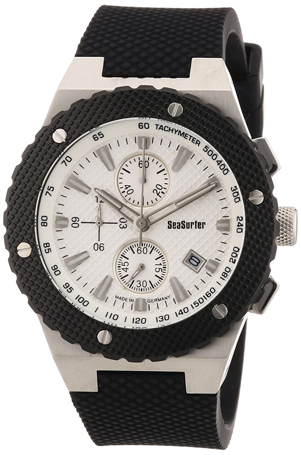 Sea Surfer Herren Chronograph Edelstahl Kautschukband Made in Germany 1562422WS