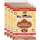 Mr. Tortilla Low-Carb Multigrain Tortillas - Fresh Delicious Soft Taco Shells - Healthy Keto Food Wraps - Organic Wheat Flour
