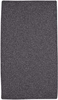 """product image for Candor Grey 9' 6"""" x 9' 6"""" Concentric Rectangle Braided Rug"""