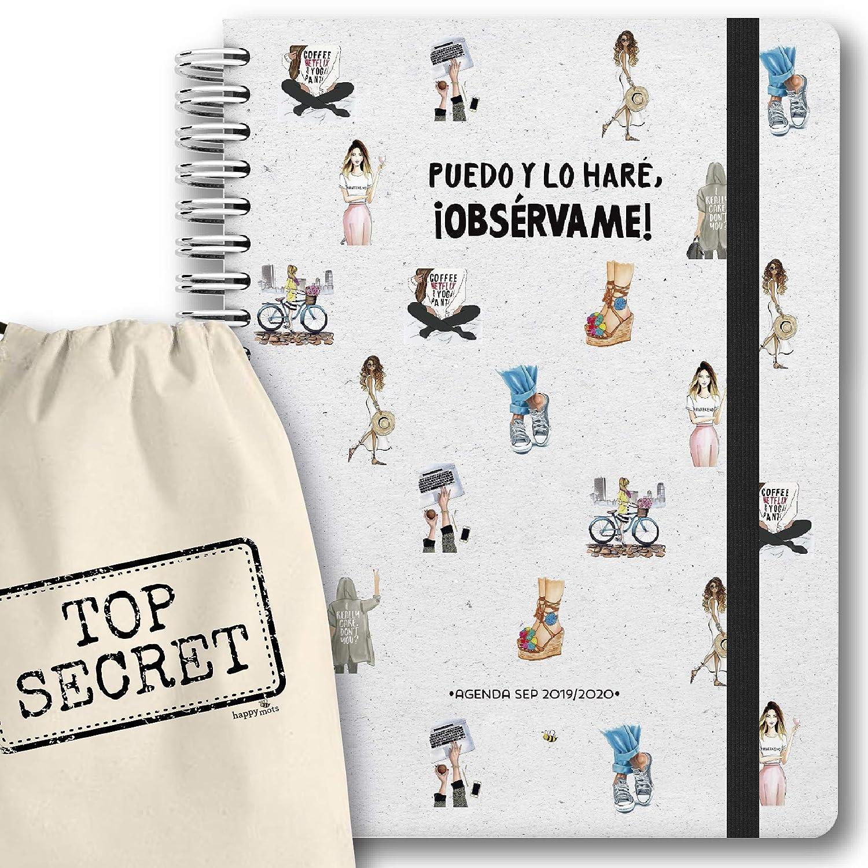 """Agenda 2019-2020 semana vista + bolsa algodón (30x21cm) - """"Puedo y lo haré, Obsérvame!"""" - HappyMots"""
