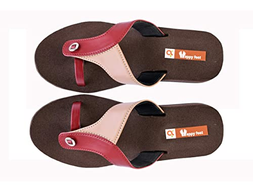e8ee2b33c29cb1 Happy Feet Appu Brown MCP Orthopedic Foot Pain Relief Ladies Slippers - 7  UK  Buy Online at Low Prices in India - Amazon.in