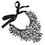 Amazon Price History for:Holylove 5 Colors Fashion Women Ribbon Tie Statement Necklace with Chunky Tear Drop Glass Beads