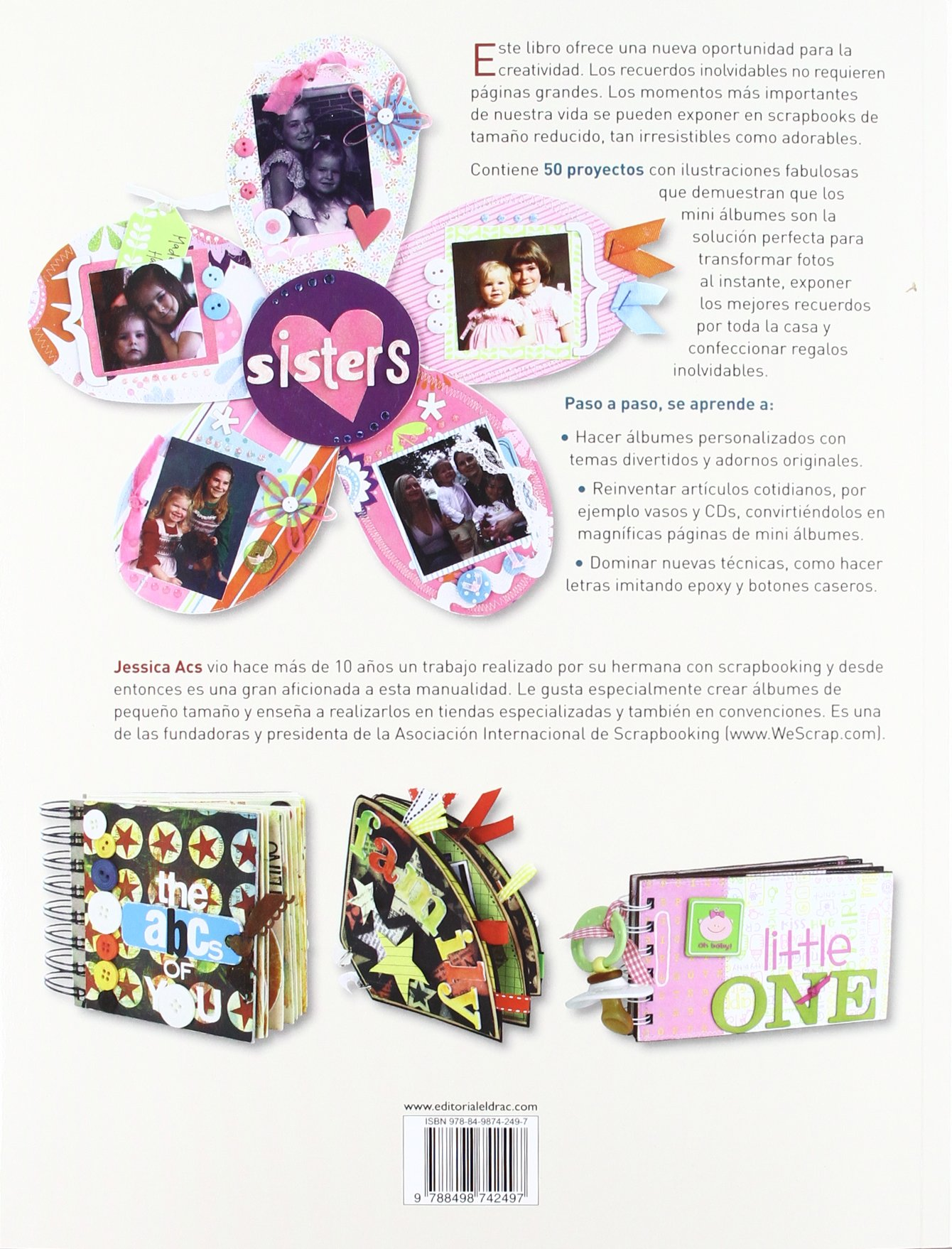 Hacer y decorar mini álbumes con scrapbooking (Spanish Edition): Jessica Acs: 9788498742497: Amazon.com: Books