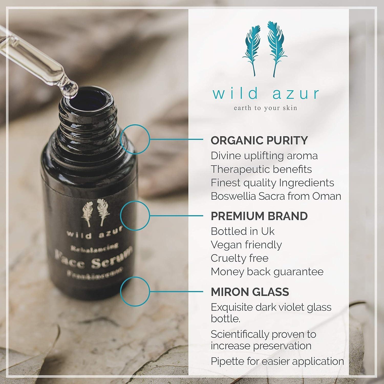 Sérum facial de incienso con Boswellia Sacra, escaramujo y vitamina C, orgánico, suero antienvejecimiento para piel sensible. Reduce líneas finas y arrugas. ...