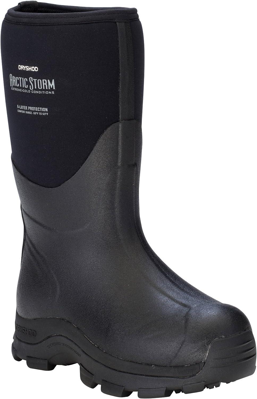 Dryshod Arctic Storm Mid Mens Foam Black//Grey Winter Boots