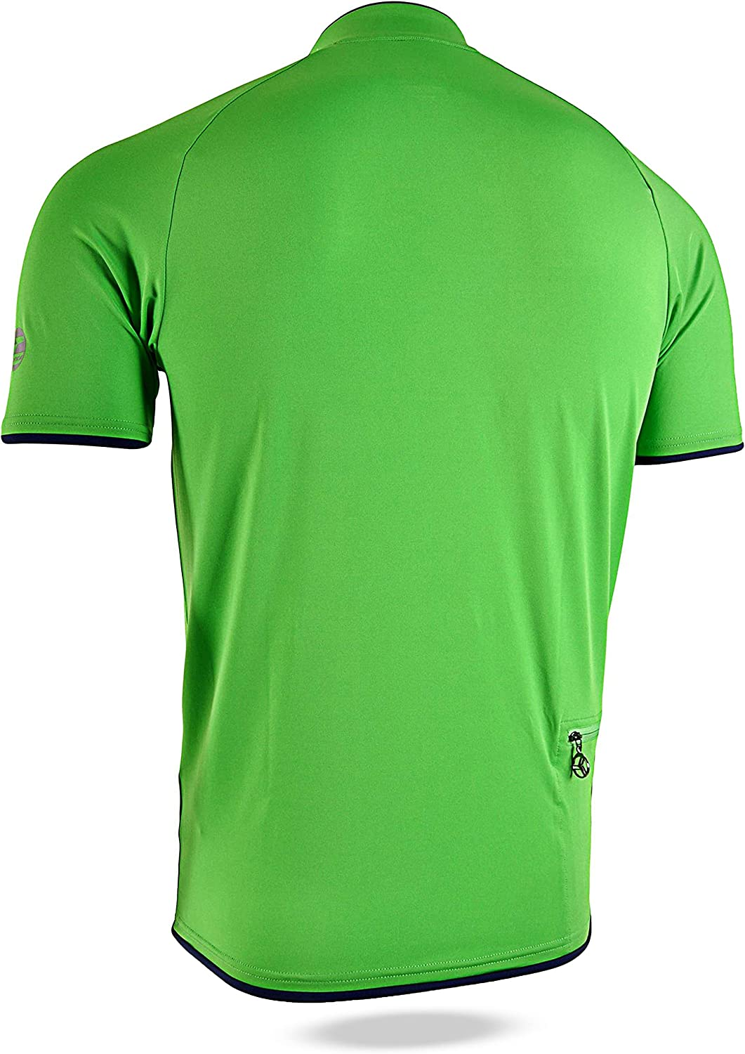 SILVINI Mens Turano MTB Jersey with Short Front Zipper Rear Pocket and Loop for Glasses