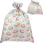 Pack of 6 Jumbo Gift Bags - Giant Plastic Gift Sacks