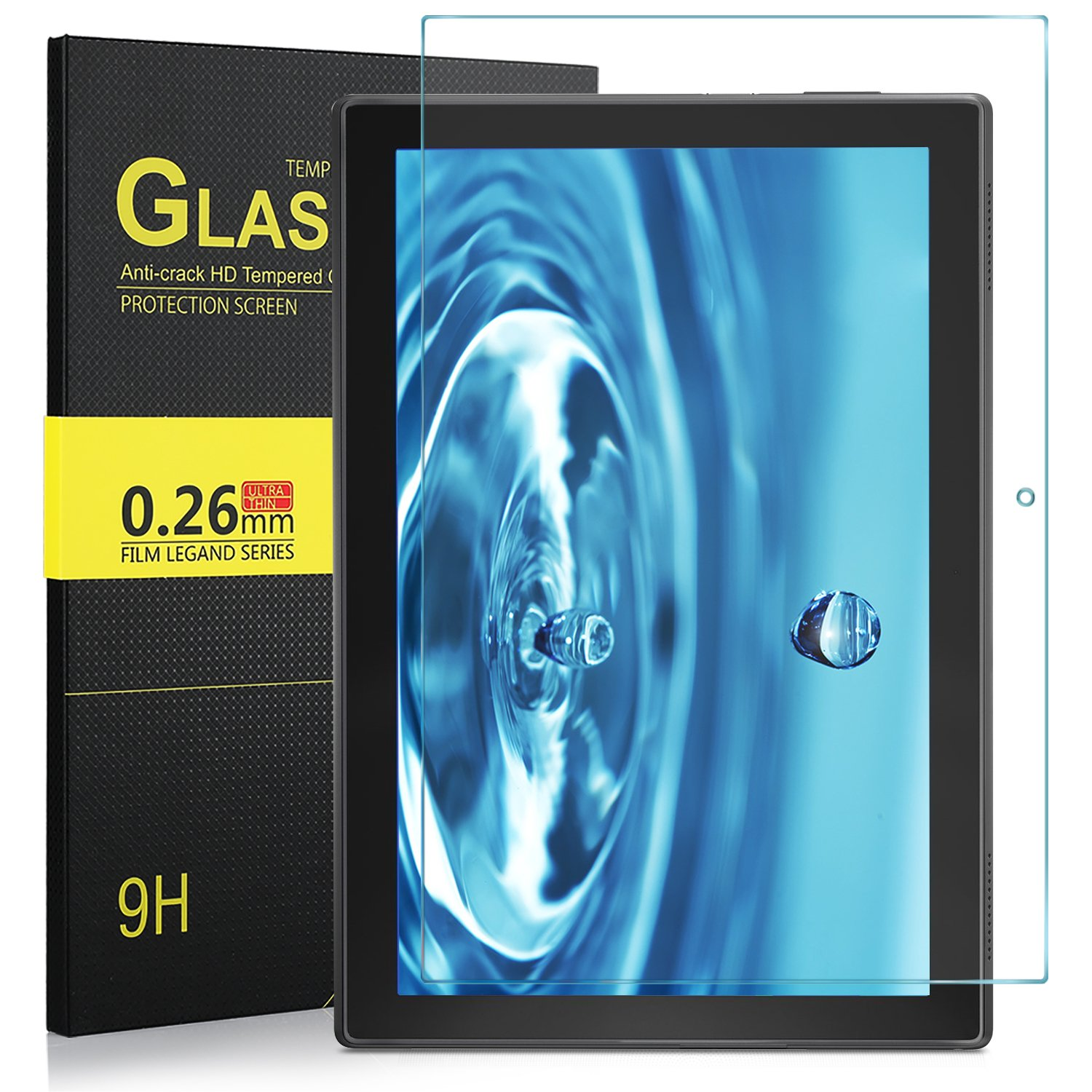 IVSO Lenovo Tab 4 10 Screen Protector, Premium Tempered-Glass Screen Protector for Lenovo Tab 4 10 10.1 inch Tablet…