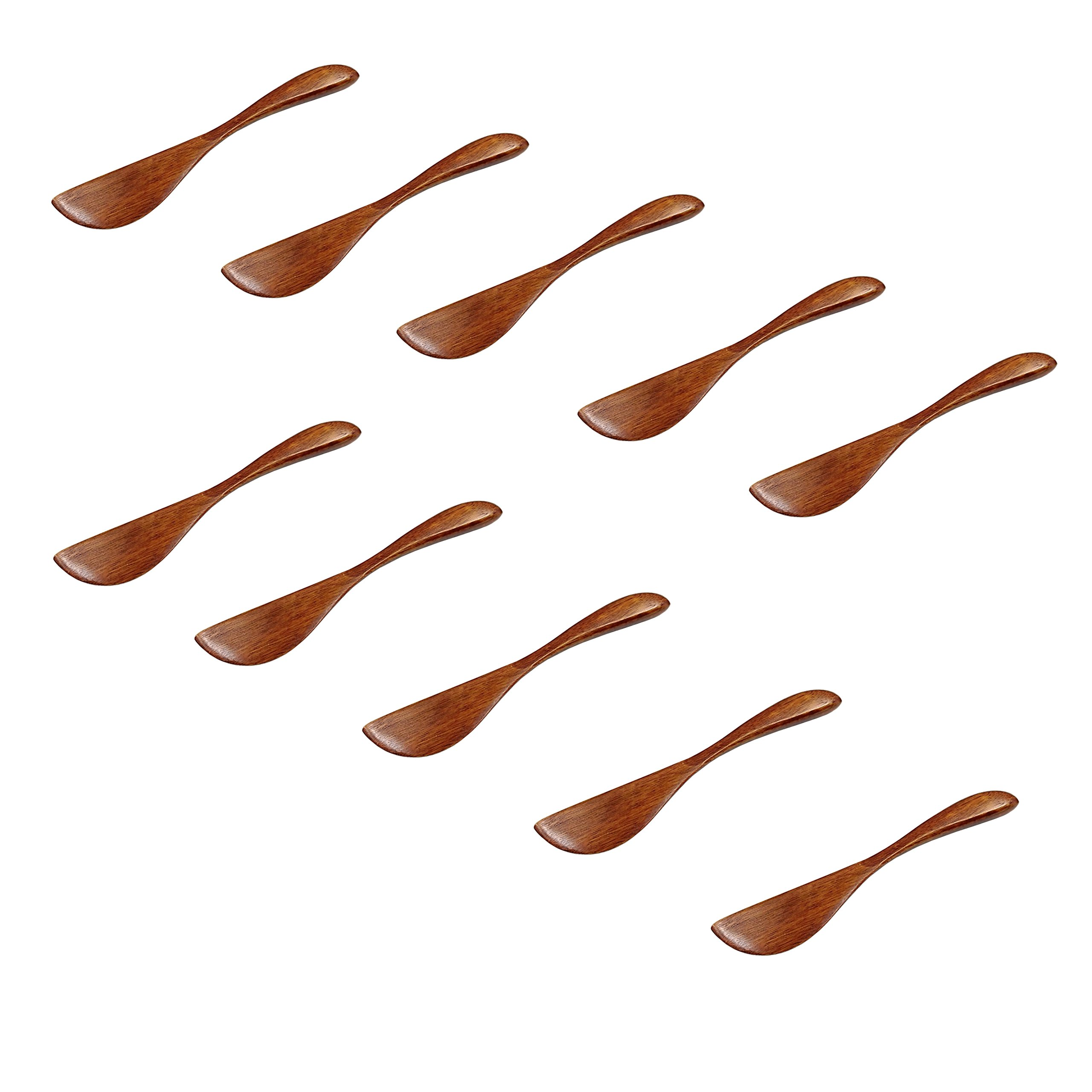 M2cbridge Natural Wooden Butter Bagels Cheese Knife Jelly Spreader, Set of 10