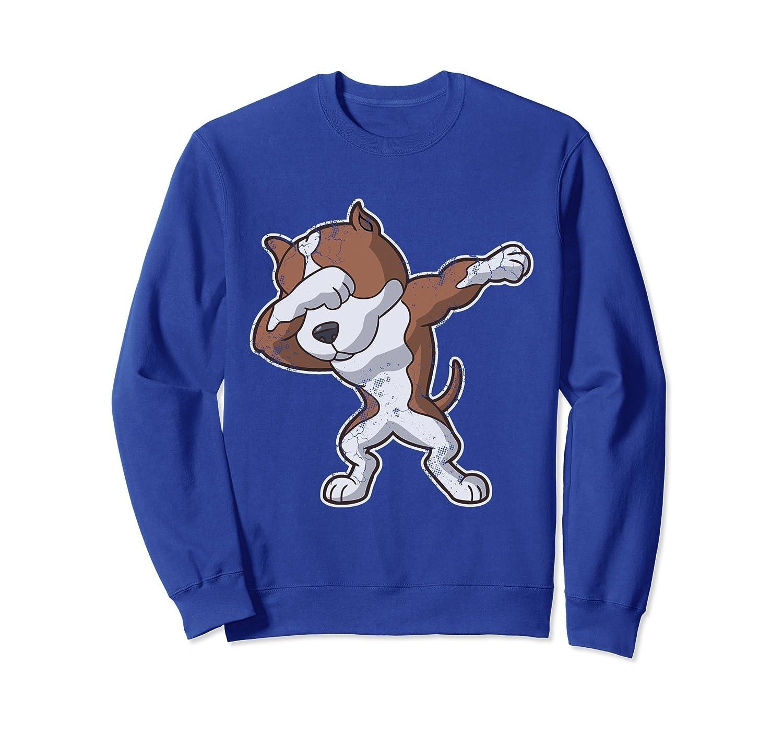 Dabbing Dog Pit Bull Dab Sweatshirt-alottee gift