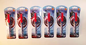 Set of 6 Captain America Pens and Note Pads