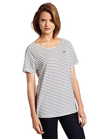 8294bf80e Fred Perry Women s Striped Oversized T-shirt