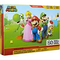 "SUPER MARIO Nintendo Advent Calendar Christmas Holiday Calendar with 17 Articulated 2.5"" Action Figures & 7 Accessories…"