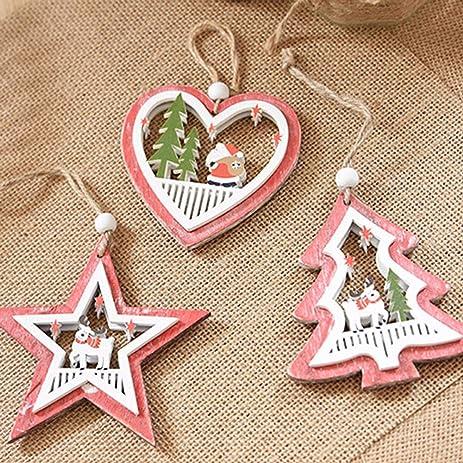 christmas decorations cycn christmas ornaments hollow engraving hang decorations treestarheart - Amazon Christmas Ornaments