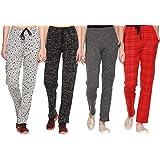 SHAUN Women's Regular Fit Trackpants (Pack of 4)