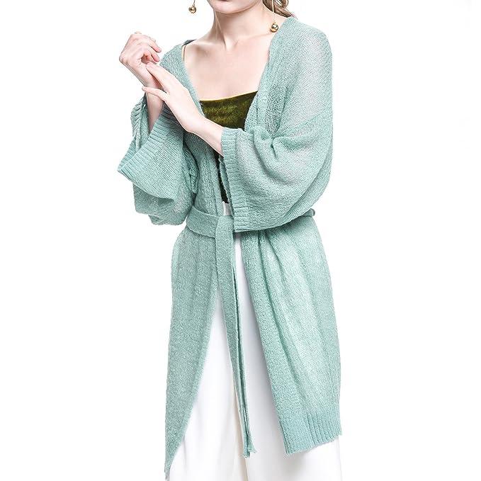 7784ce3f7 Amazon.com  Luxspire Women s Open Front Knit Wool-Blend Cardigan ...