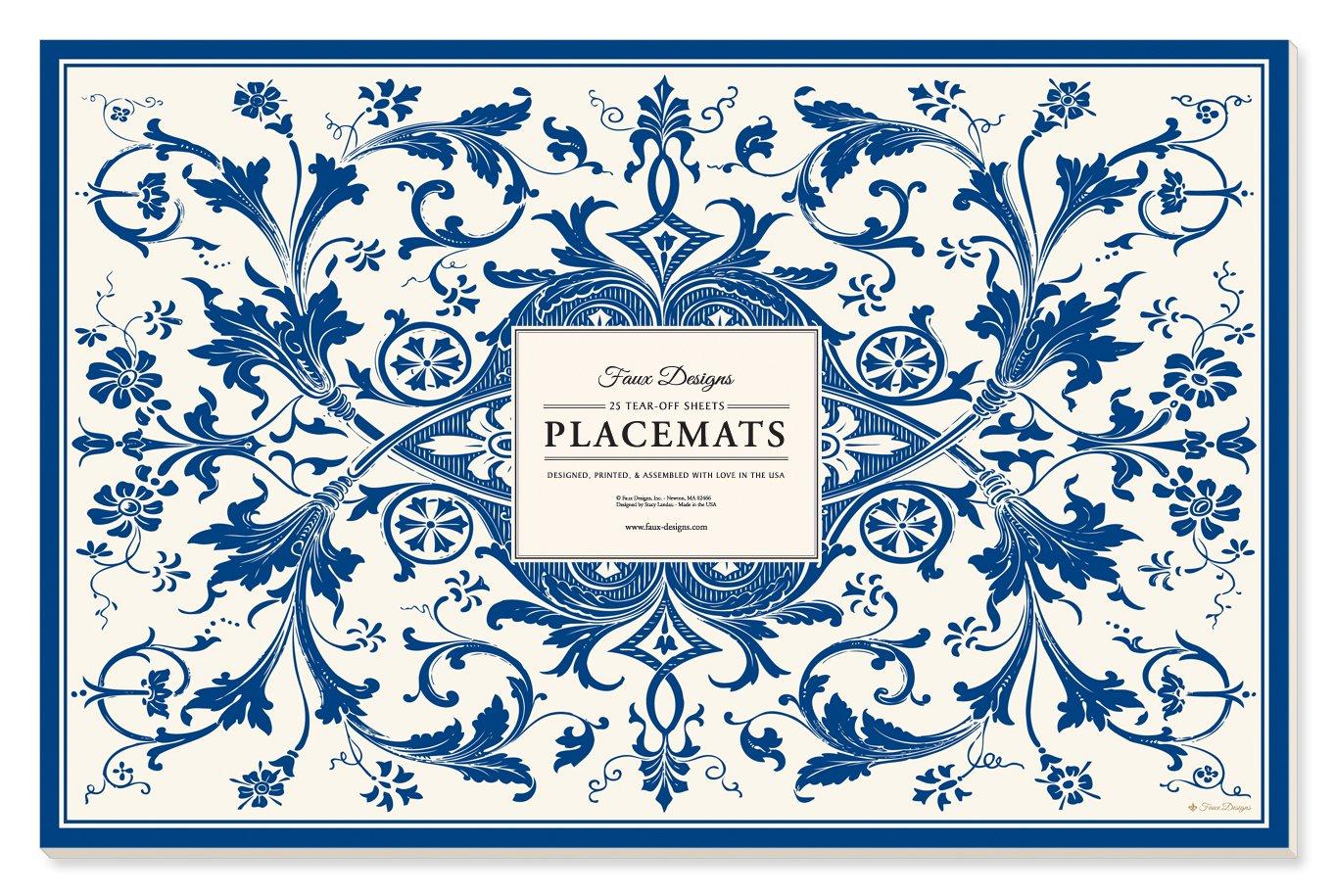 Faux Designs Paper Placemats - Abigail
