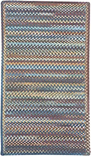 "product image for Capel Rugs Kill Devil Hill Medium Blue 24"" x 36"" Cross Sewn Rectangle Braided Rug"
