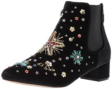 Betsey Johnson Women's Jax Ankle Bootie, Black Velvet, ...