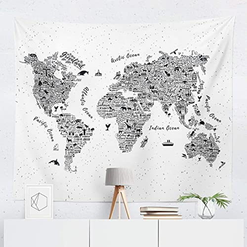 Amazon Com World Map Tapestry Maps Global Globe Wall Tapestries