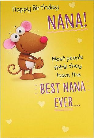 Amazon Com Nana Birthday Card Birthday Card For Her Funny Birthday Card Nana Office Products