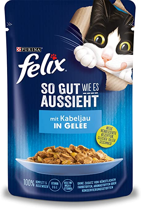 Felix Katzennassfutter So Gut Wie Es Aussieht In Gelee Mit