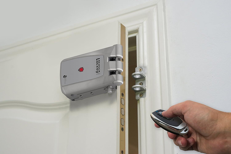Remock Lockey Pro RLP4G Cerradura de seguridad invisible con 4 mandos, 3 V, Dorado